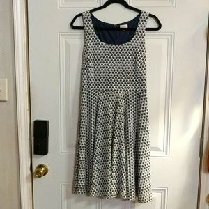 Pixley Blue& White Millie Textured Dress